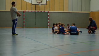 POST LIONS Trainingstag in der Knauerhalle