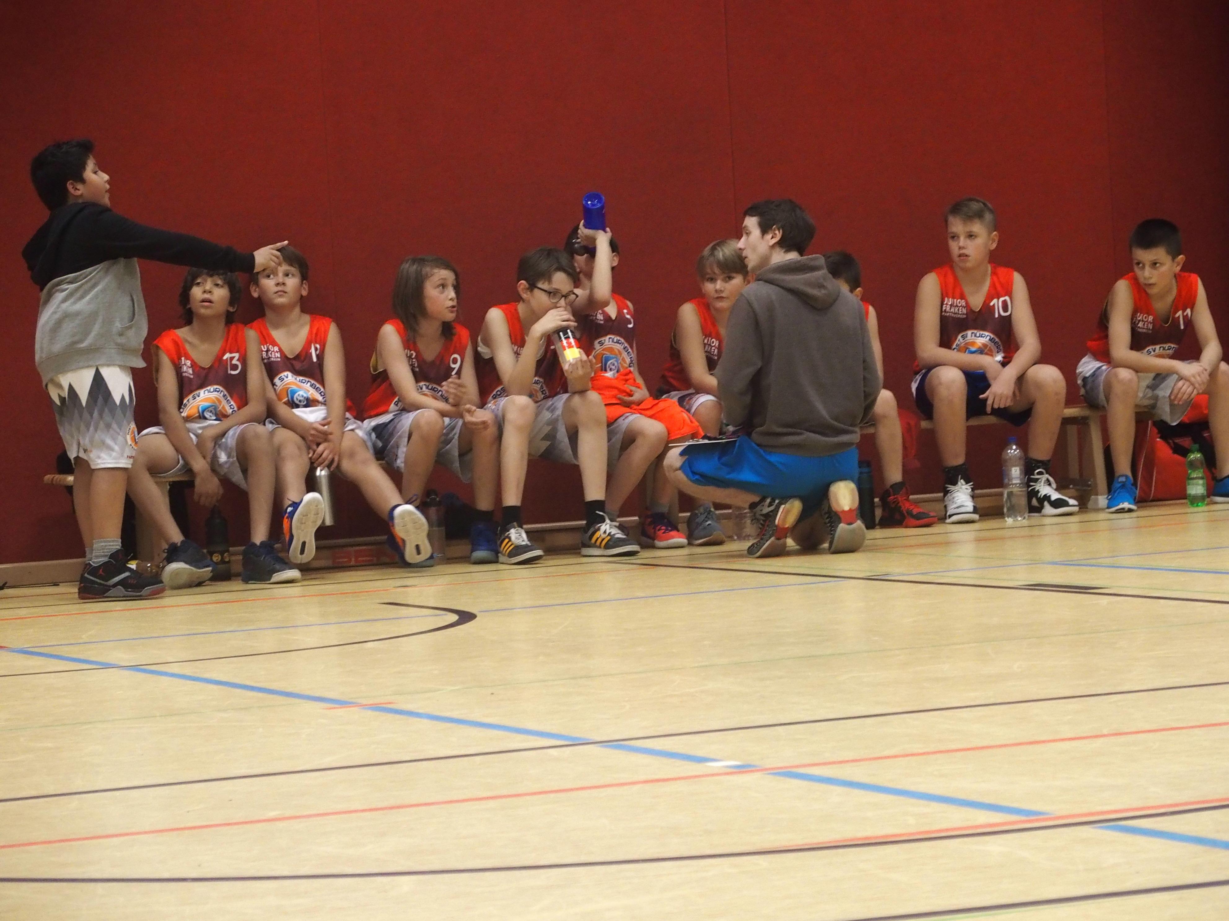 u12-1 erteilt u12-2 Lehrstunde im Basketball